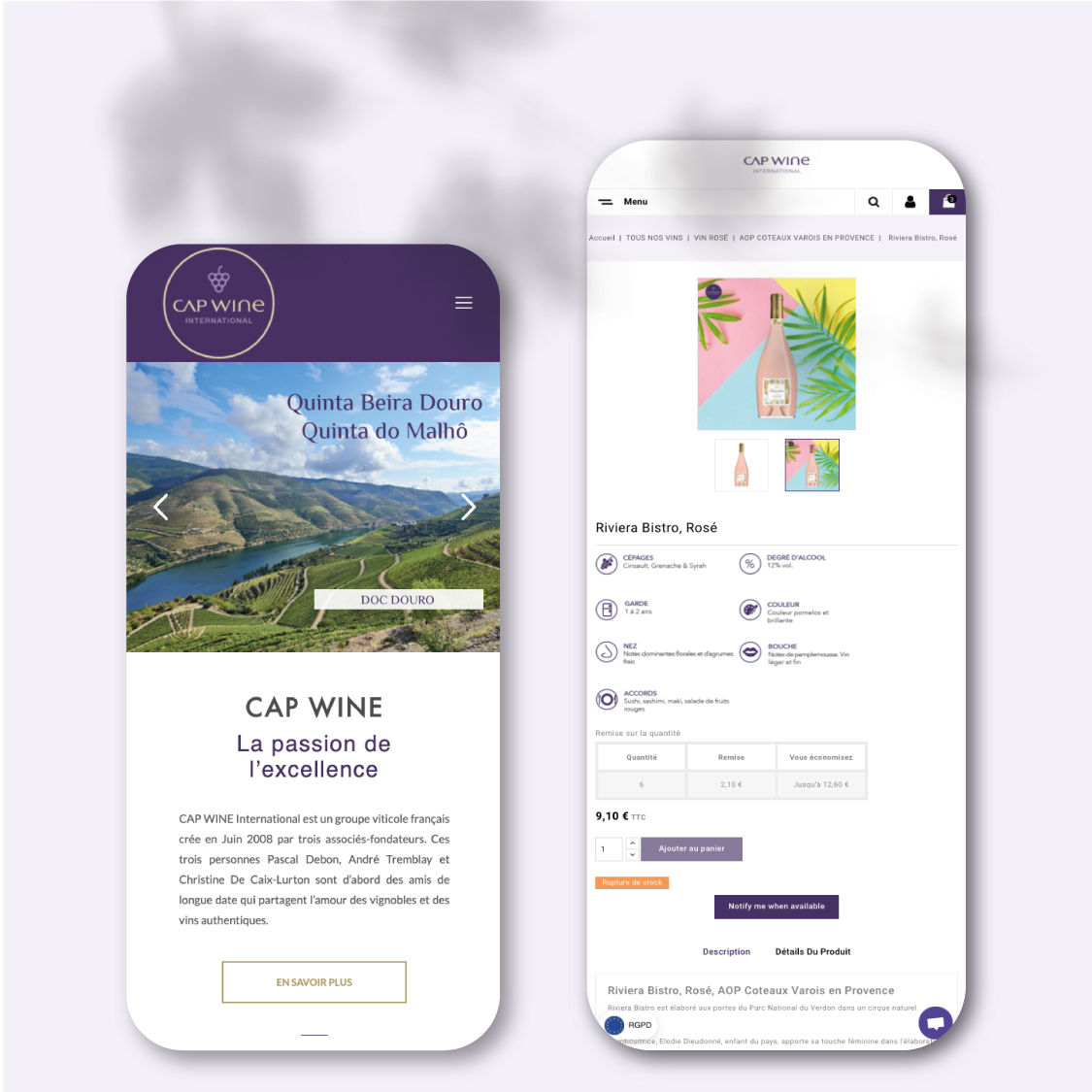 Cap Wine International - Teaps   Agence digitale & web basée à Toulon